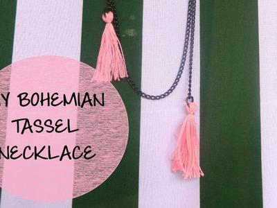 DIY Bohemian Tassel Necklace ~ DIYStudio