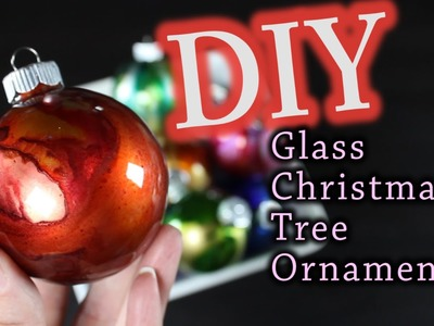 DIY Christmas Ornaments - How To Make Glass Christmas Tree Ornaments
