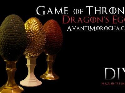DIY Game of Thrones Dragon's Eggs. Easter Eggs. Pascuas