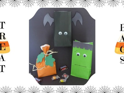 DIY: How to Make Halloween Treat Candy Bags | Halloween Treat Bags