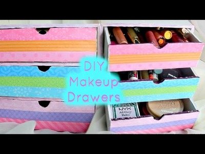DIY Makeup Drawers.Organizers