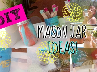 DIY MASON JAR IDEAS! | Naturally Anna Marie