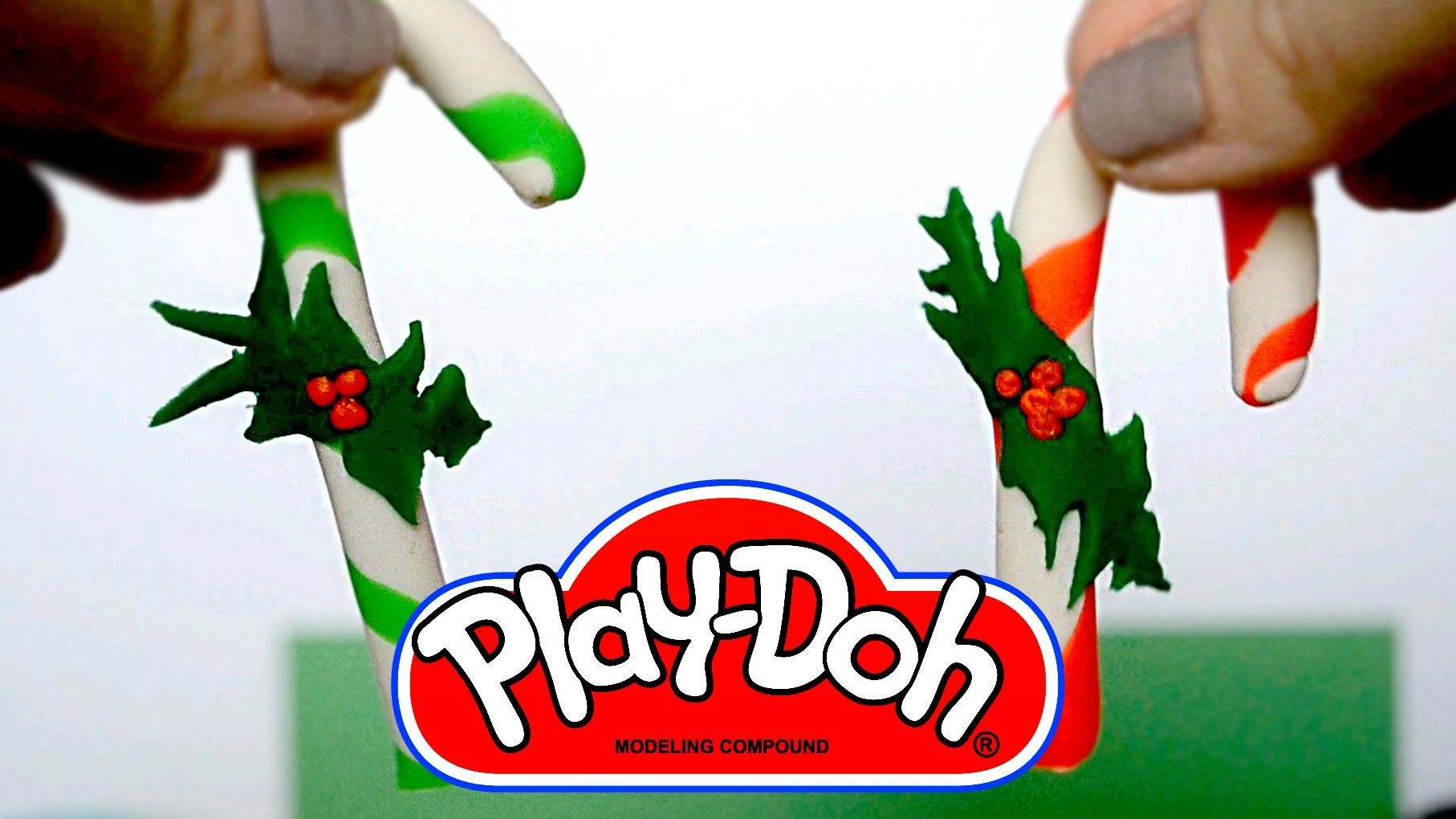 DIY Play-Doh Candy ornaments for our Christma