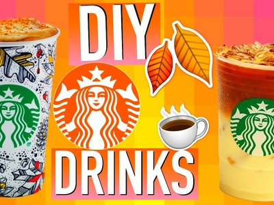 DIY Starbucks Drinks for Fall! Tanamontana