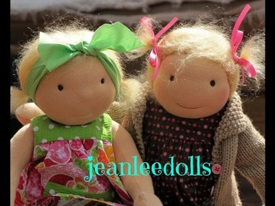 Free Tutorial How to tie Waldorf doll eyeline.