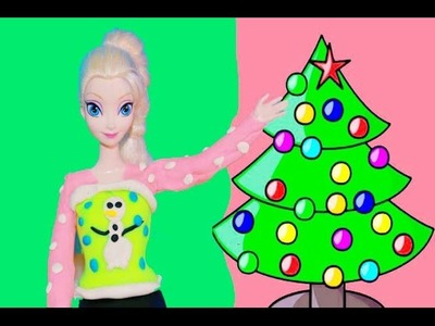 Frozen Play Doh Elsa Ugly Christmas Sweater Playdough Video Disney Princess Queen Elsa