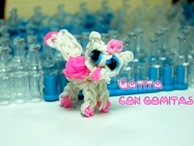 Gatita con gomitas. Kitty rainbow loom. kitten