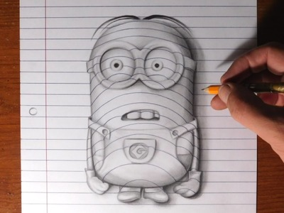 How to Draw a Minion - Line Paper Trick Art