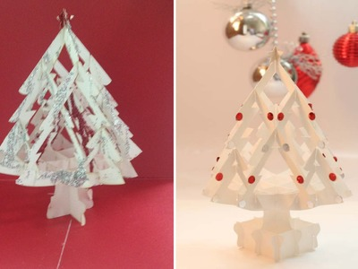How To Make A 3D Kirigami Paper Christmas Tree - DIY Pop Up Card