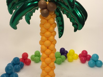 How To Make A Balloon Palm Tree Tower