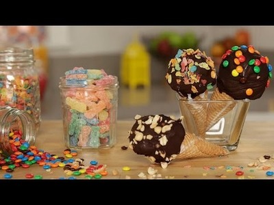 How to Make DIY Nestle Drumstick Ice Cream Cones | Get the Dish