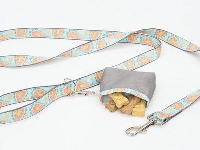 How to Sew a Dog Leash With Treat Bag