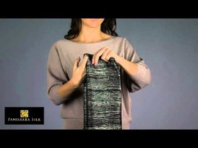 How to Tie a Silk Scarf in an Over The Shoulder Wrap