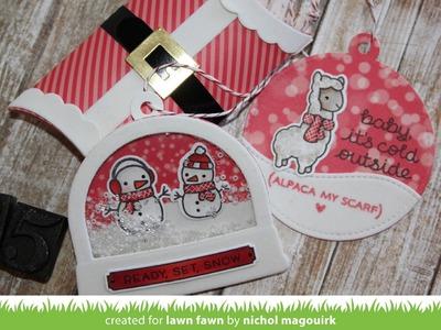 Lawn Fawn   Christmas Tags & Pillow Box