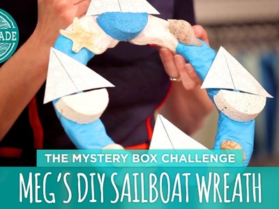 Meg's DIY Sailboat Wreath - HGTV Handmade Mystery Box Challenge