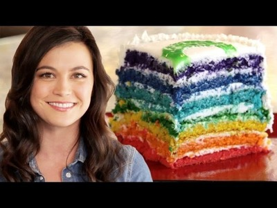 Rainbow Cake for Kathryn McCormick -- How to Bake It in Hollywood with Ashley Adams