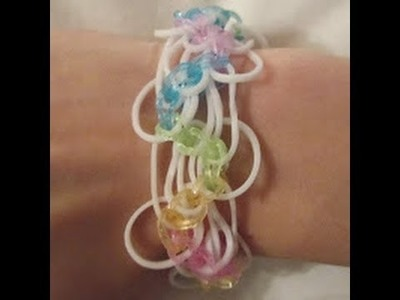 Rainbow Loom- How to Make a Loopy Lace Bracelet (Original Pattern)