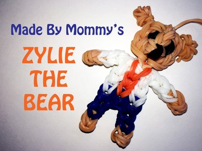 Rainbow Loom Teddy Bear Charm -- Zylie the Bear!