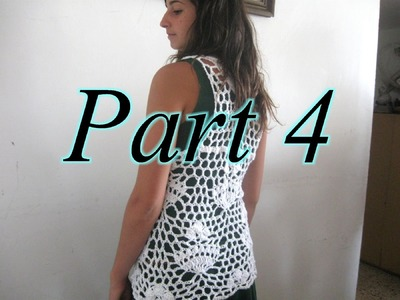 Royal Lace Vest Pt 4 - Left Handed Crochet Tutorial