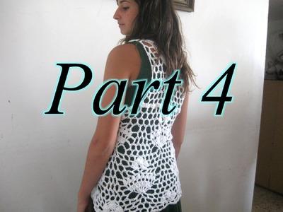 Royal Lace Vest Pt 4 - Left Handed Crochet Tutorial