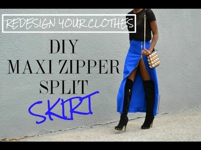 (RYC) 25: DIY Zipper Slit Maxi Skirt