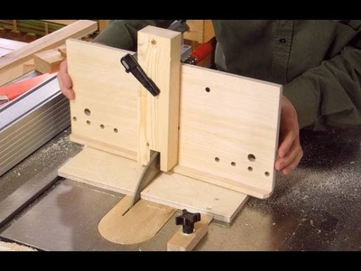 Table saw dovetail jig build 1.2