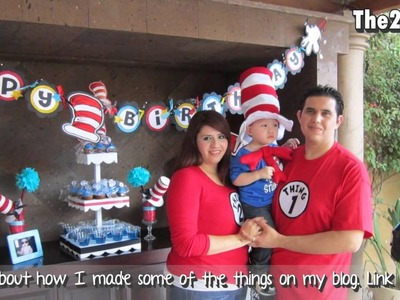 2nd Birthday Decoration (The cat in the hat theme)