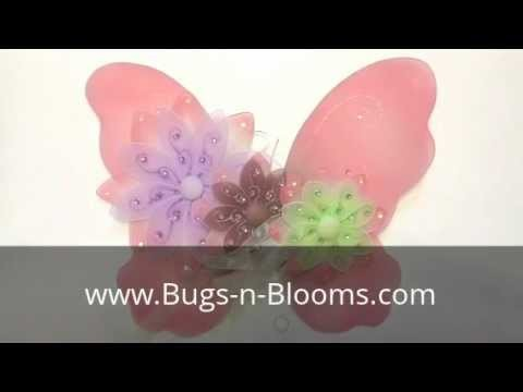 Bugs-n-Blooms Two-Tone Hanging Butterfly Wall Ceiling Decor : Flowers : Tiebacks