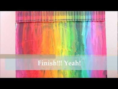 """Colorful nightlife""--DIY: Crayon Melting Art"