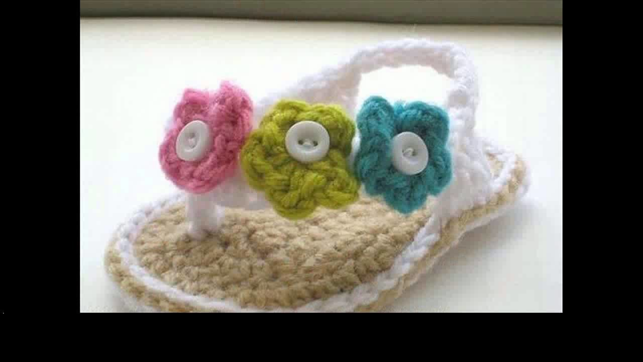 Crochet patterns baby sandals