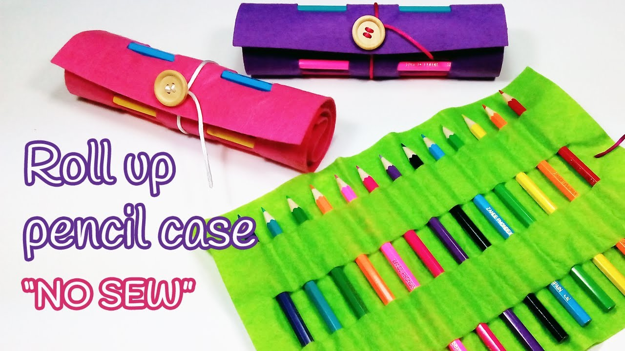 DIY crafts: Roll up PENCIL CASE (Back to school) - Innova Crafts