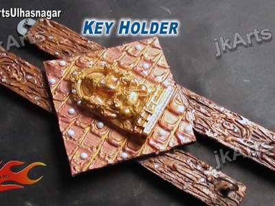 DIY Designer Ganpati WallKey Holder | How to Make | JK Arts 498