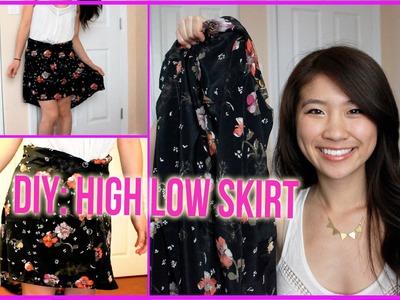 DIY: High Low Skirt from Long Sleeve Shirt
