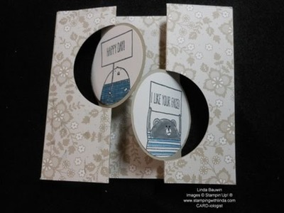Double Flip Circle Card