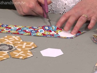 How to cut hexagons quickly from Carolyn Forster