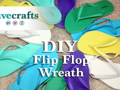 How to make a Colorful Flip Flop Wreath