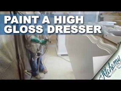 How to paint a dresser high gloss