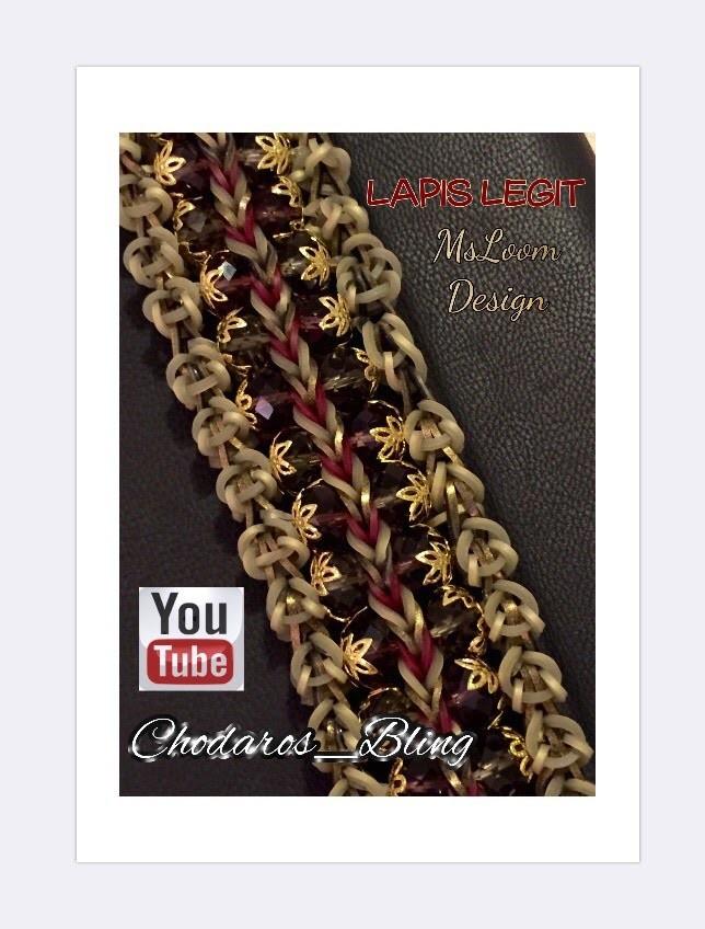 Lapis Legit Loom Band Bracelet Tutorial (Hook Only)
