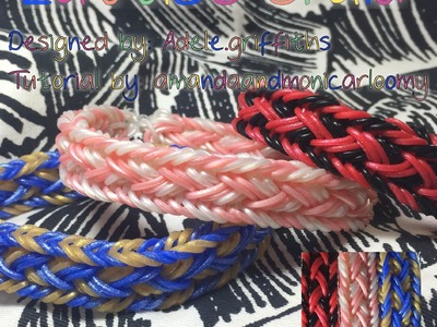 Lattice Braid rainbowloom- Hook Only