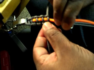 Making a paracord bracelet with custom charm and D Ring Shackle part 2