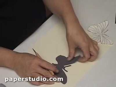 Making Butterflies from Decorative Paper - Paperstudio.com