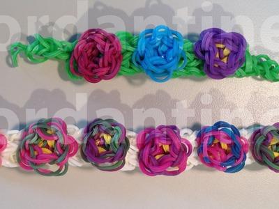 New Flower Sculpture Bracelet - Advanced - Rainbow Loom, Crazy Loom, Wonder Loom, Bandaloom