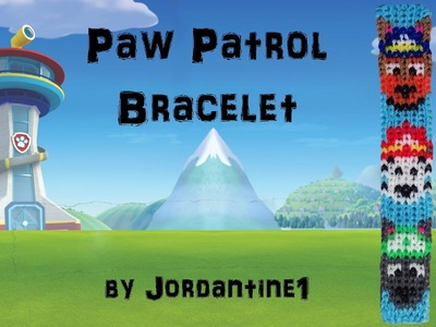 New Paw Patrol Dog Bracelet- Alpha Loom.Rainbow Loom -Police German Shepherd. Firefighter Dalmation