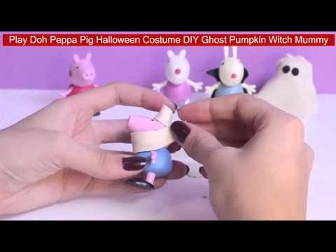 Play Doh Peppa Pig Halloween Costume DIY Ghost Pumpkin Witch Mummy