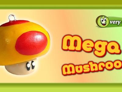 Polymer Clay Fimo - Mario Bros Mega Mushroom - *very easy Tutorial*
