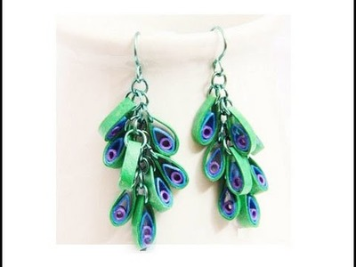 Quilling papers earring - New design quilling earring making tutorial video | quilling earring