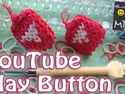 Rainbow Loom Band YouTube Play Button Charm
