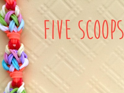 Rainbow Loom Bands Five Scoops Ice Cream Bracelet