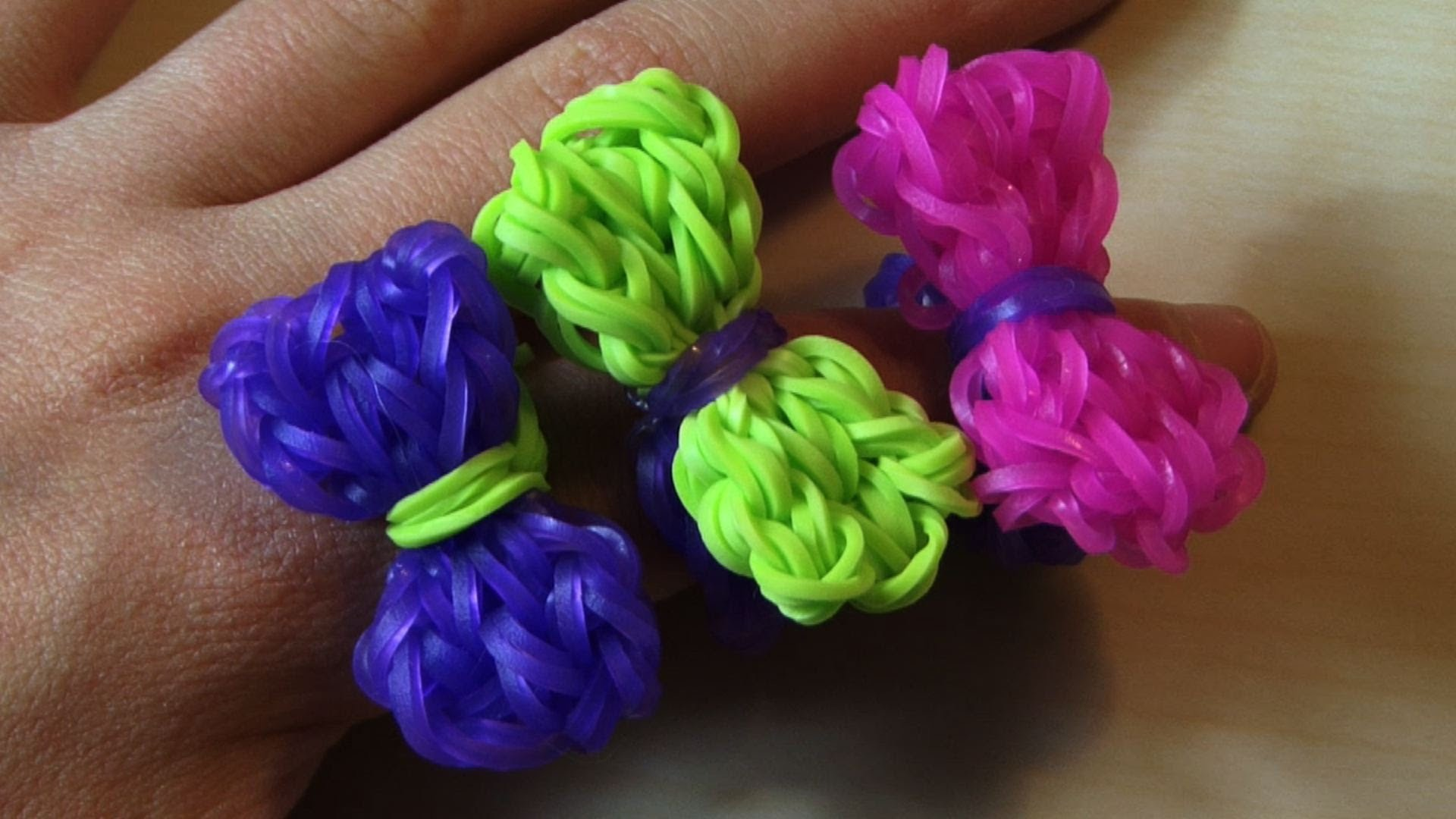 RAINBOW LOOM BOW RING - How to Make