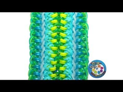 "Rainbow Loom Bracelet ""ACACIA"" (Original Design) (ref #7f)"
